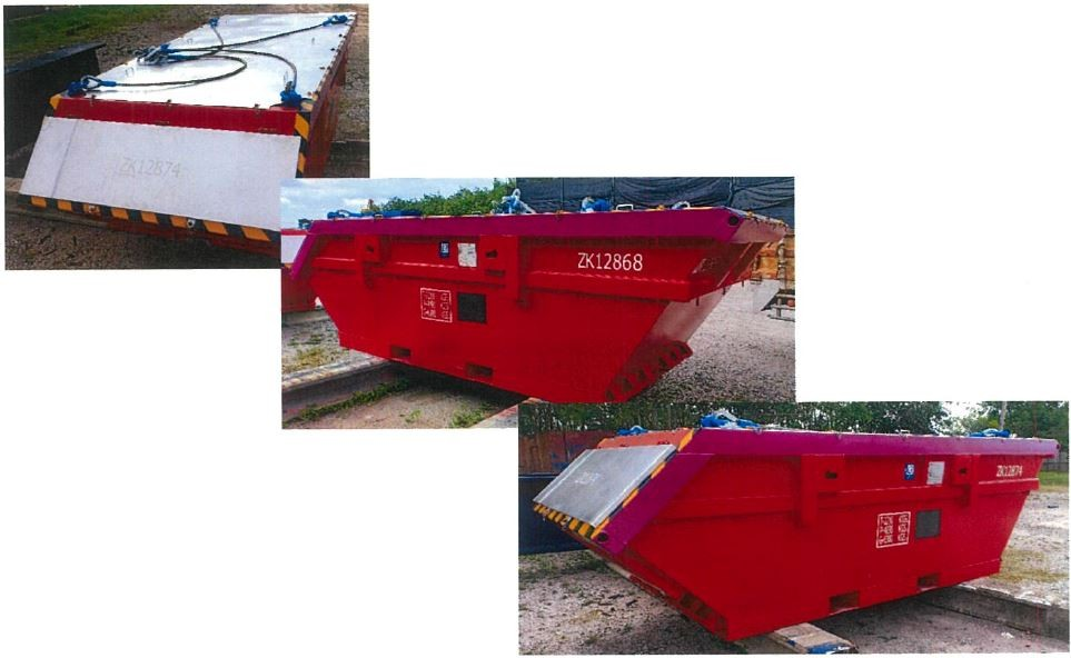 Boat shaped skips