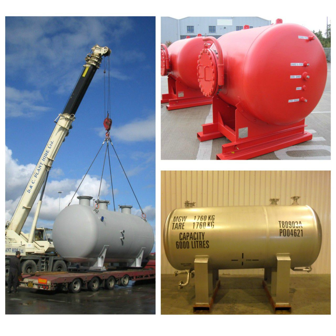 Specialist static pressure vessels for onshore projects