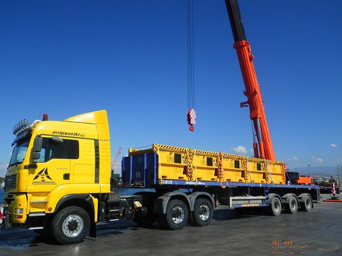 Cargo carrying units manufactured for the East Med